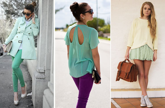 Look y tendencia color aguamarina moda simple for Color aguamarina